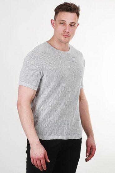 футболка вязаная