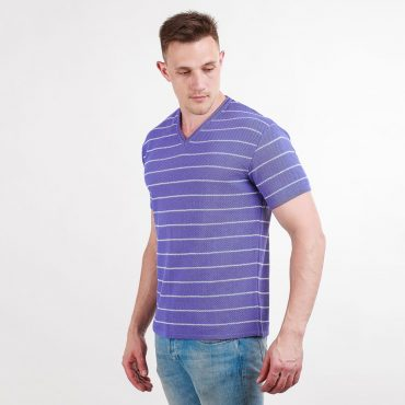 футболка мужская сиреневая